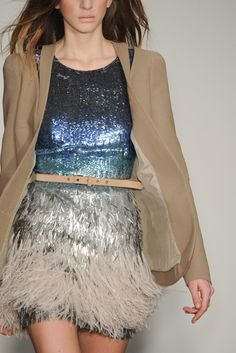 . #sparkles #feathers #dress