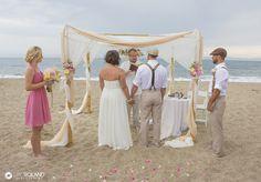 Elegant Santa Barbara beach ceremony.