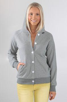 Makia Button Up huppari Grey Stripe 89,90 € www.dropinmarket.com