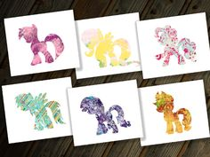 My Little Pony Friendship is Magic digital prints... Rainbow Dash, Twilight Sparkle, Pinkie Pie, Rarity, Applejack and Fluttershy... these would be so cute in a frame... all for just $10