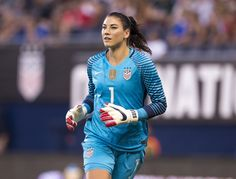 Women's National Team defeated Costa Rica on the strength of an aggressive attacking performance before fans at Children's Mercy Park in its last tune-up match ahead of the 2016 Olympic Games. Female Football Player, Football Players, Hope Solo, Goalkeeper, One Team, First Nations, Olympic Games, Costa Rica, Olympics