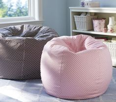 Put stuffed animals into bean bag chair slip covers for storage and for toddler seating.