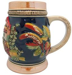 Oktoberfest German Barley Harvest Collectible Engraved Beer Stein, 2015 Amazon Top Rated Beer Mugs & Steins #Kitchen