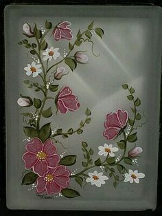 Designs By Cheryl Skalski Hand Painted Glass Blocks Beautiful Work :~D Have  Got To Try This! Have Blocks!