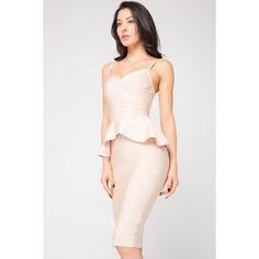 0f862659808 Nude Bandage Dress 2 Piece (215 AUD) ❤ liked on Polyvore featuring dresses