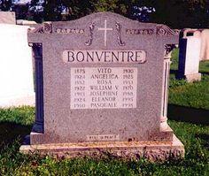 "VITO BONVENTRE    Birth: 1875  Death: Jul. 15, 1930    Organized Crime Figure. He was an underboss to Salvatore Maranzano during the Castellmmarese War (1930 to 1931). He was shot to death by gunmen of Joe ""the Boss"" Masseria in the driveway of his Brooklyn home. He was a second cousin of Mafia boss Joseph Bonanno."