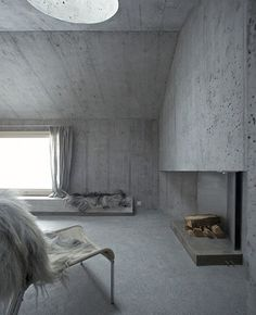 Concrete holiday house in the Swiss Alps by Selina Walder & Georg Nickisch