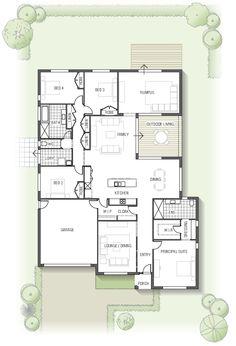 best 25 australian house plans ideas on 5 Craftsman Floor Plans, Kitchen Floor Plans, House Floor Plans, Australian House Plans, Australian Homes, Floor Plan 4 Bedroom, 4 Bedroom House Plans, New Home Designs, Cool House Designs
