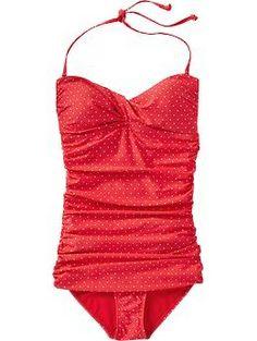 Womens Polka-Dot Swimsuit