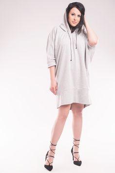 Bluza z kapturem SL2154SP www.fajne-sukienki.pl High Neck Dress, Dresses, Fashion, Turtleneck Dress, Vestidos, Moda, Fashion Styles, Dress, Fashion Illustrations