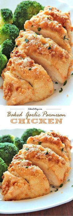 Baked Garlic Parmesan Chicken is a quick and delicious recipe, perfect for dinner on those busy weeknights.