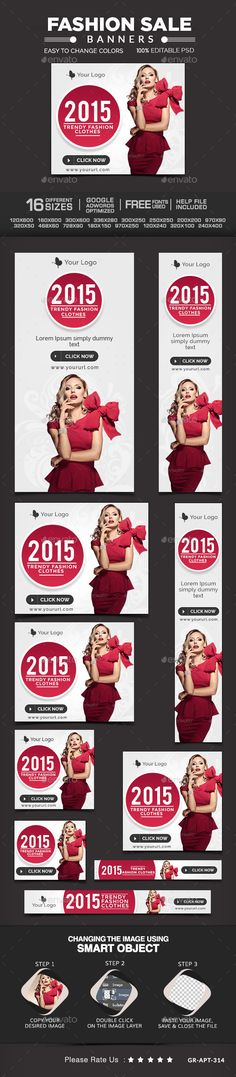 Fashion Sale Banners | Download: http://graphicriver.net/item/fashion-sale-banners/10218155?ref=ksioks