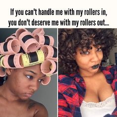 Natural Hair | quotes | issues | problems | natural chicks be like | roller set IG @DayeLaSoul