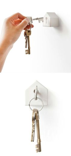 A home for your keys!---<3 this!! Totally random, but really creative! Who the heck came up w/ this???