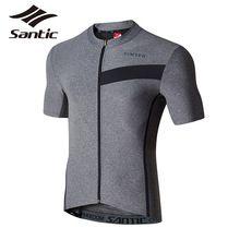 US $36.60 Santic Cycling Jersey Summer Short Sleeve Motocross Jersey Downhill Men Mountain Bike Jersey Full Zipper Cycling Clothing 30. Aliexpress product
