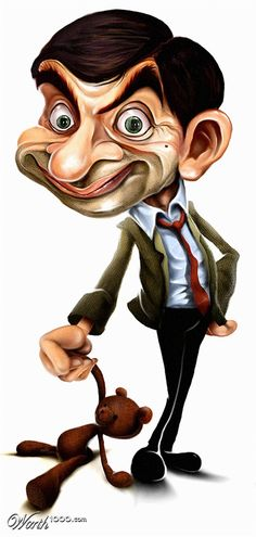 Bean is my favorite caricature! Cartoon Faces, Funny Faces, Cartoon Art, Funny Caricatures, Celebrity Caricatures, Funny Illustration, Illustrations, Star Pictures, Funny Pictures