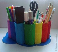 Porta trecos de rolinhos de papel higiênico Foto: Fab Art Diy
