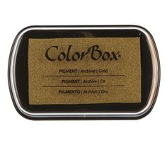 Michael's gold ink pad colorbox® pigment metallic ink pad $6.99 Item# 10214364
