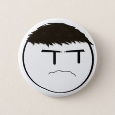 Ricky Grump Pin - simple clear clean design style unique diy