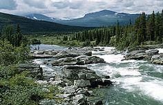 Kamajokk river, Jokkmokk, Lappland, Sweden, Sweden