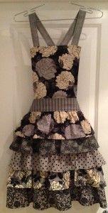 New Ruffle Apron Pattern - Little Black Dress Fabrics by Moda