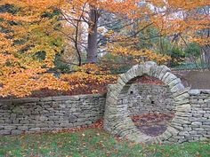 Circle Entrance. I love this so very much. I wish we had a 'folly' in our yard. ;-)