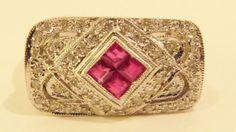 Vintage Estate GIA Certified Ladies 14K White by ThatCompleteLook, $1199.95