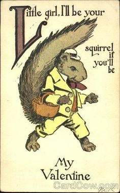 Squirrel Dressed in a Yellow Suit Comic Dressed Animals