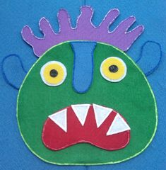 Go Away Big Green Monster Felt Board Flannel Board Story
