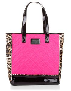 Lipsy Animal Fluro Quilted Shopper