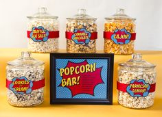 Popcorn Bar - Superhero Teacher Appreciation Week