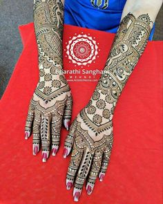 Beautiful bridal henna design by @bharathi_sanghani_mehndi  I like the well spaced flowers on the wrist part! It's well done!   #henna #hennadesign #hennatattoo #besthennaworldwide #besthenna #safehenna#oddlysatisfying#satisfying#hennatattoo#bodyart#mehndiart#naturalhenna#create#hireme#hennabeauty#hennaforsale  #hennalookbook#hennaartist#hennaforsale #hennaartists#hennaforsale