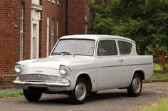 Vintage Trucks FORD ANGLIA the car like this that I almost got killed in while on duty with the army in France Classic Cars British, Ford Classic Cars, Classic Chevy Trucks, Ford Lincoln Mercury, Ford Motor Company, Ford Anglia, Veteran Car, 1964 Ford, Convertible