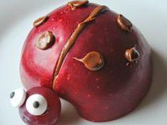 Apfel Marienkäfer