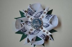 Philadelphia Eagles Bow Eagles Ribbon and by malleysbowtique, $11.00