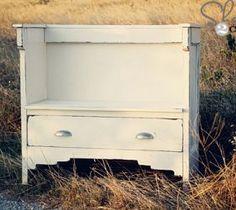 Vintage DIY Entry Bench