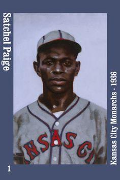 01 Satchel Paige magnet Kansas City Monarchs 1936 - Hall of Fame - Negro Leagues History Baseball Art, Baseball Players, Negro League Baseball, Large Crowd, Babe Ruth, National League, Kansas City, Philadelphia, Mlb