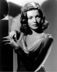 "Gene Tierney, ""Laura"" (1944). Smart and glamorous. Love her.  I agree."