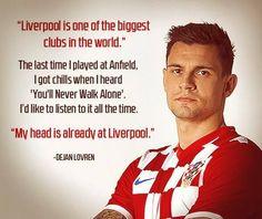 Dejan Lovren Liverpool Football Club, Liverpool Fc, Dejan Lovren, You'll Never Walk Alone, Serbian, Croatia, Soccer, Guys, Sports