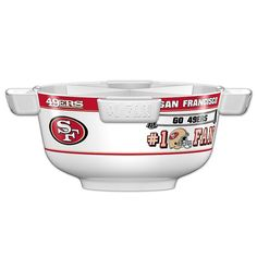 Officially Licensed NFL Party Bowl Set - San Francisco 49ers
