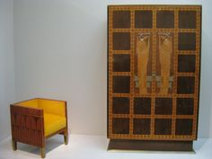 MOSER CABINET AND CHAIR