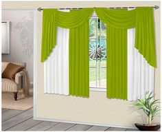 CONFECCIONES DENIS : SABANAS Y CORTINAS                                                                                                                                                                                 Más Scarf Curtains, Hanging Curtains, Drapes Curtains, Drapery, Valance, Beautiful Curtains, Modern Curtains, Window Styles, Curtain Designs
