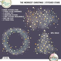 The Merriest Christmas | Stitched Stars