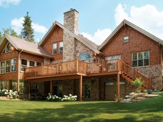 love that deck with sunroom - plan 032D-0522 - houseplansandmore.com