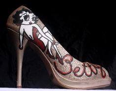 Shoes heel betty boop | ... Betty Boop High Heels. Choose your Color, Size, and type of heel