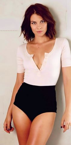 Lauren Cohan I love her hair. If I ever go short, this is what I'm doing!