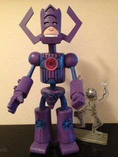 (2) custom figures | Tumblr Crazy Toys, Custom Action Figures, Silver Surfer, Various Artists, Tumblr, Fictional Characters, Fantasy Characters, Tumbler