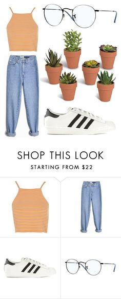 """Untitled #70"" by ehstevens14 ❤ liked on Polyvore featuring Topshop, adidas Originals, Ray-Ban and Gerson"