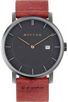 Meller Watch | Nag Magma: a bold and daring choice, the color inspired by volcanic magma will bring a pop of color while the dark sphere will have you feeling a little mysterious #bold #style #watch #dark