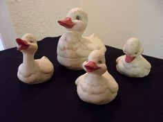 """8/"""" tall Bisque Ceramic Duck- Ready for paint or glaze 4/"""" wide 6/"""" long"""